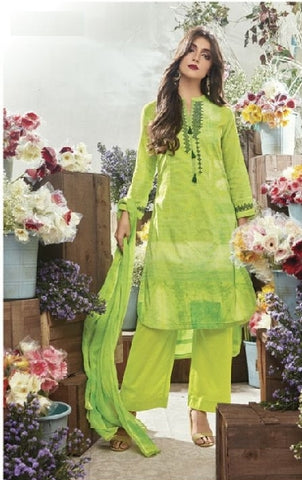 Embroidered Cotton Un-Stitch Suit - S00083