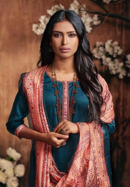 Formal Cotton Printed Un-Stitch Suit - S00093