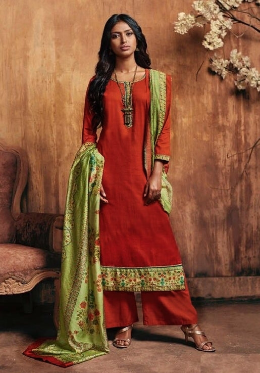 Formal Cotton Printed Un-Stitch Suit - S00095