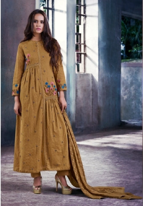 Cotton Embroidered Un-Stitch Suit - S00101