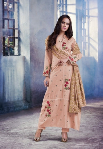 Cotton Embroidered Un-Stitch Suit - S00104