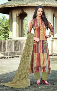 Embroidered Pashmina Un - Stitch Woollen Suit - S00191