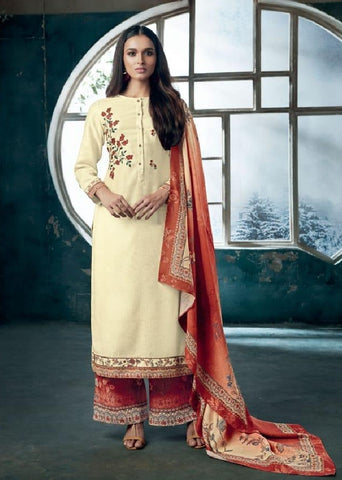 Embroidered Pashmina Un-Stitch Suit - S00194