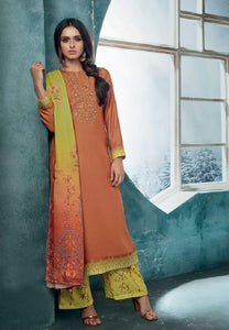 Embroidered Pashmina Un-Stitch Suit - S00196