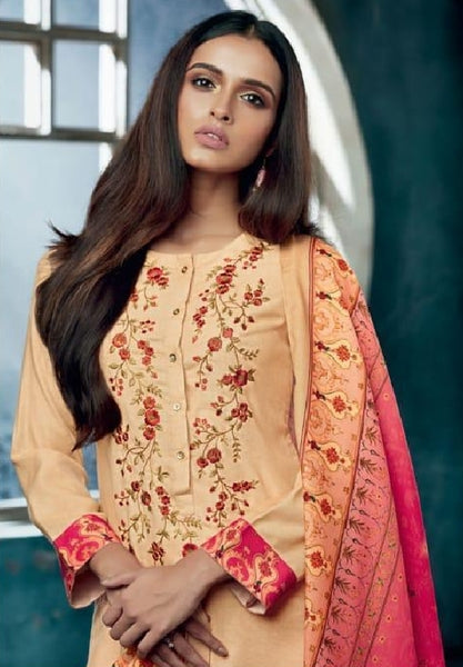 Embroidered Pashmina Un-Stitch Suit - S00199