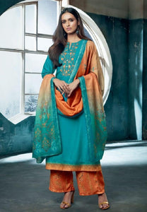 Embroidered Pashmina Un-Stitch Suit - S00200