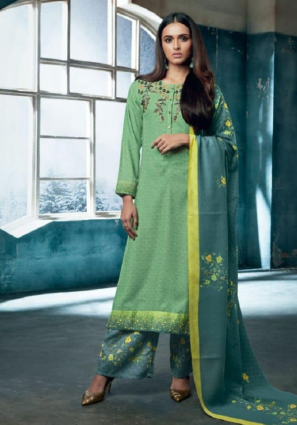 Embroidered Pashmina Un-Stitch Suit - S00201