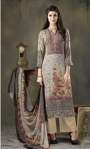 Woollen Printed Un-Stitch Suit - S00205