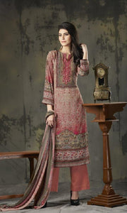 Woollen Printed Un-Stitch Suit - S00206