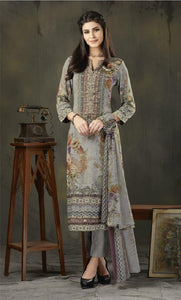Woollen Printed Un-Stitch Suit - S00210