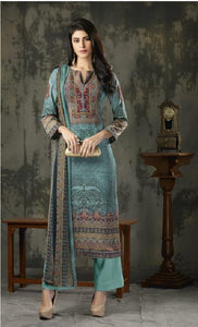 Woollen Printed Un-Stitch Suit - S00212
