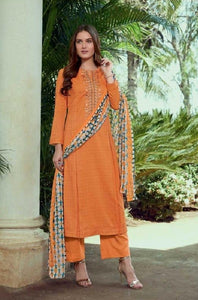 Embroidered Cotton Un-Stitch Suit - S00225