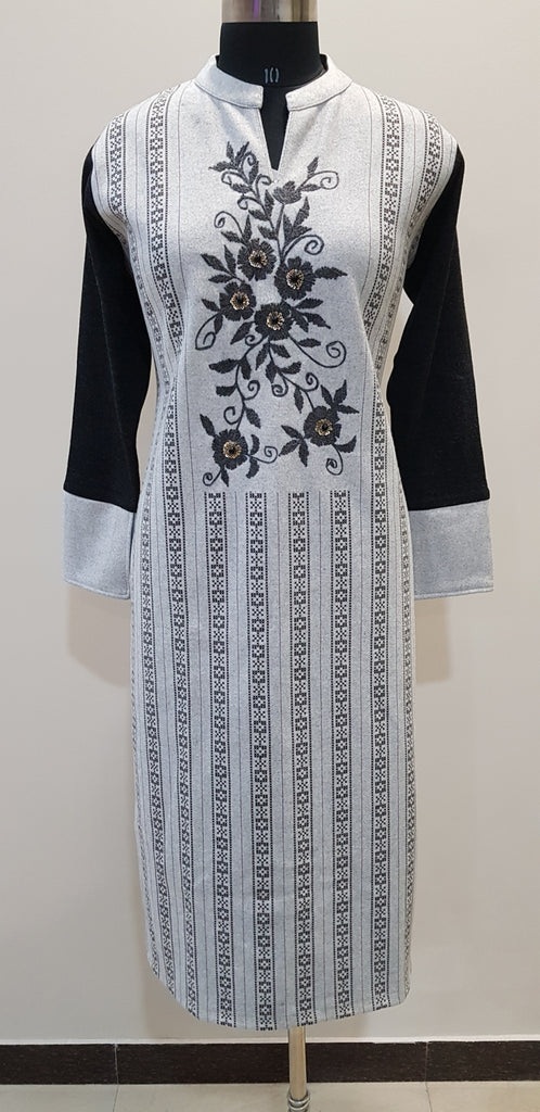 Embroidered Woollen Kurti - W00241