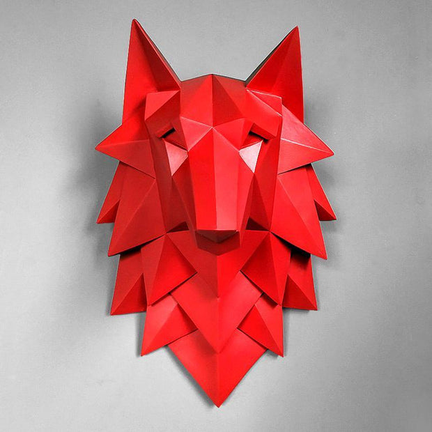 Sculpture Loup rouge