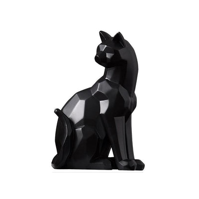 Statue Chat Moderne origami