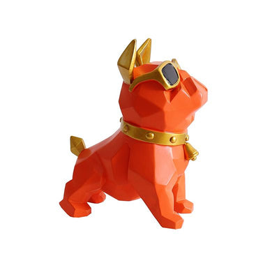 Statuette Chien orange
