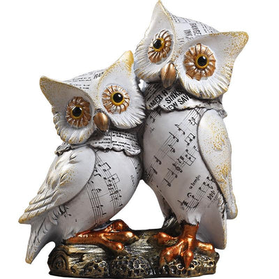 Statuette Hibou couple