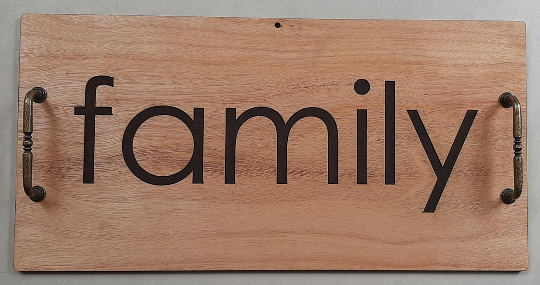 Wooden Tray - Family