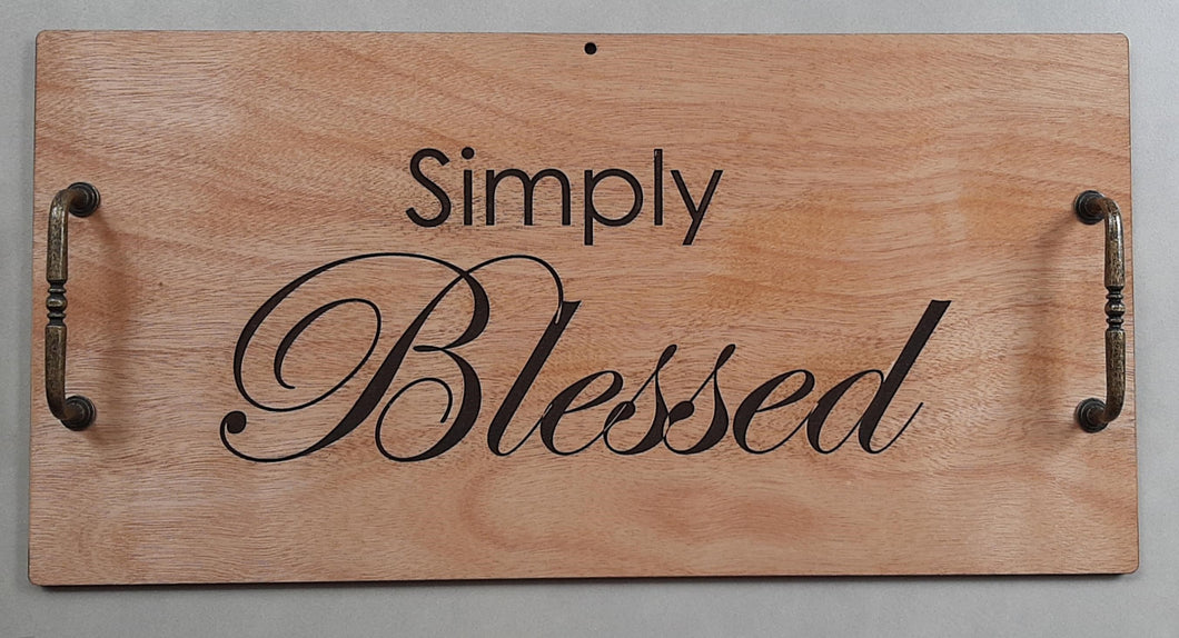 Wooden Tray - Simply Blessed