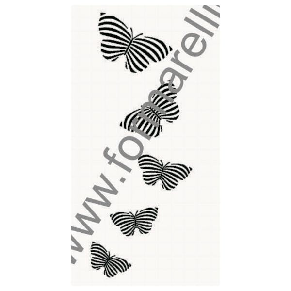 Zebra Butterfly Wall Decor 1