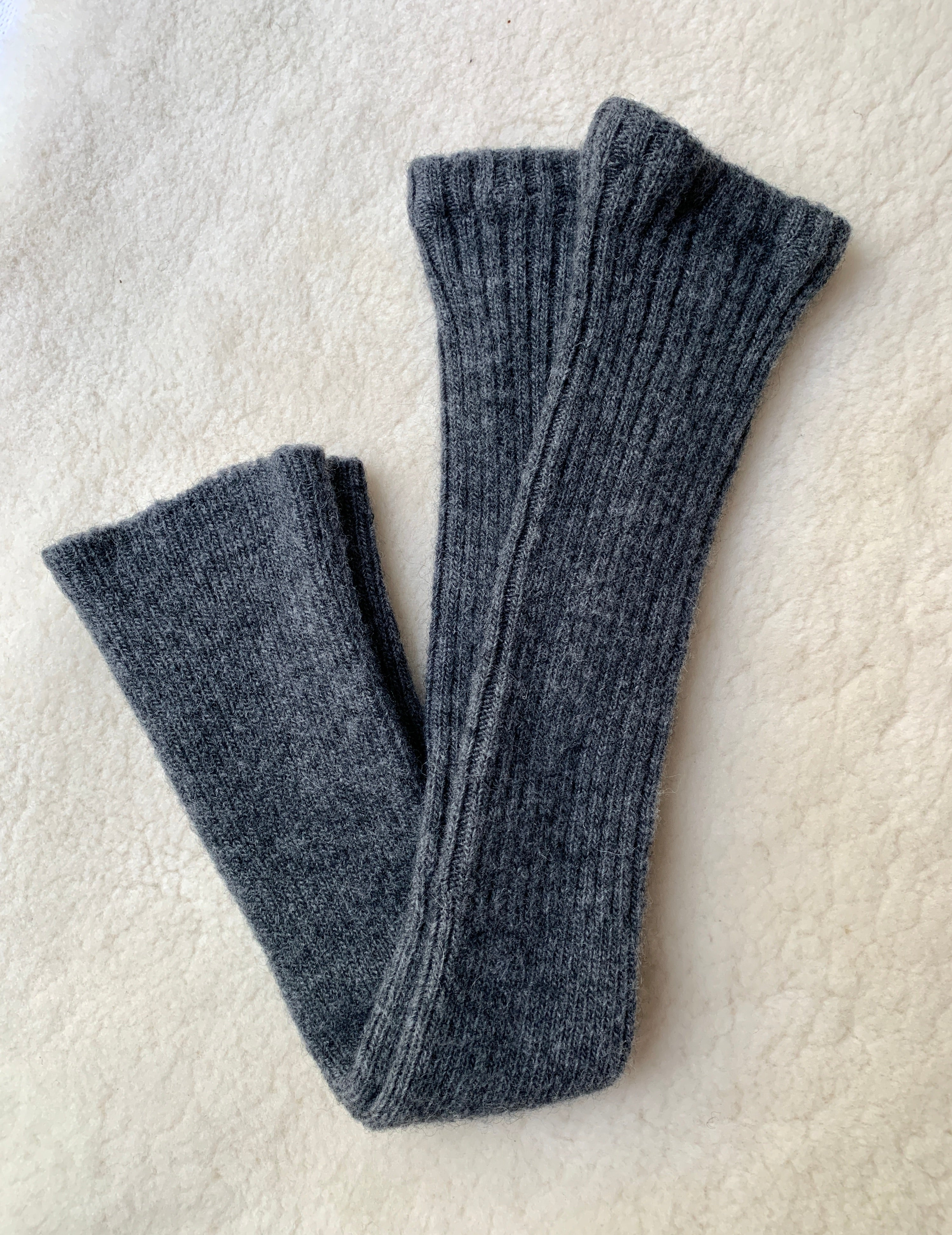 Alpaca Arm/Leg Warmers: Charcoal