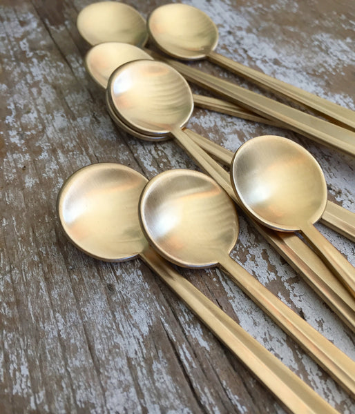 Tiny Matte Gold Spoon