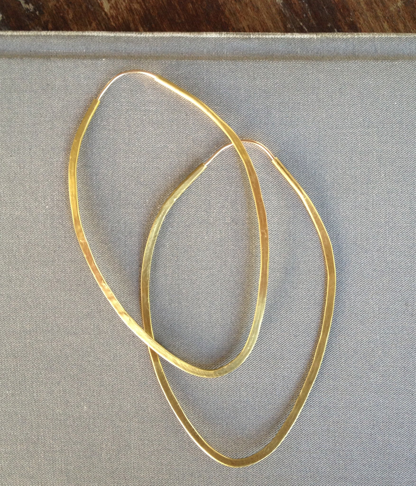 Pointed Brass Hoops