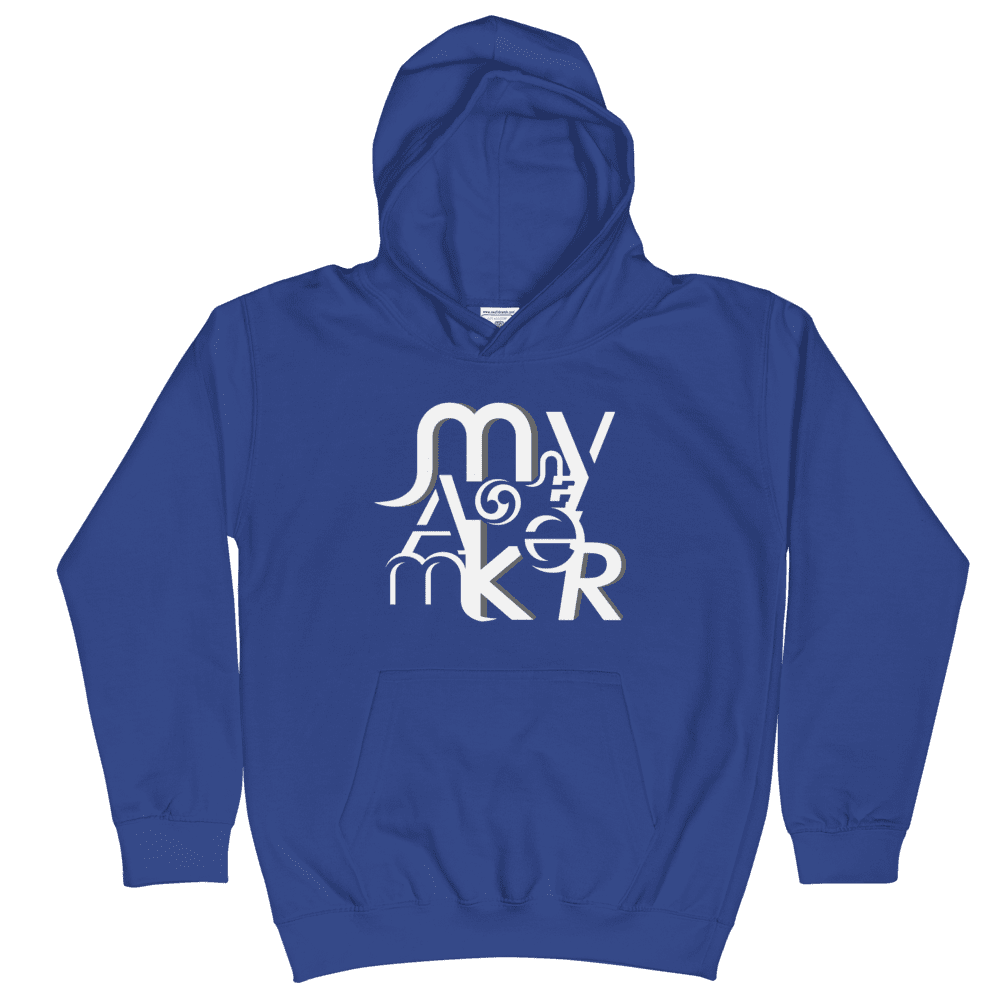 Money Maker White Kids Hoodie