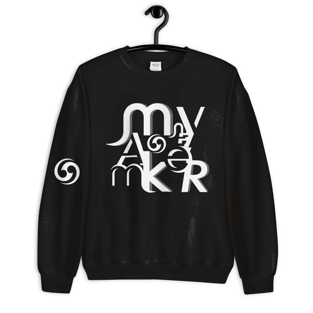MONey Maker Unisex Sweatshirt white.