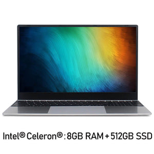 Intel Core i7 Notebook Computer 15.6 inch 8GB RAM 256GB/512GB/1TB SSD J3160 Quad Core Laptops With FHD Display Ultrabook