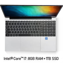 Load image into Gallery viewer, Intel Core i7 Notebook Computer 15.6 inch 8GB RAM 256GB/512GB/1TB SSD J3160 Quad Core Laptops With FHD Display Ultrabook