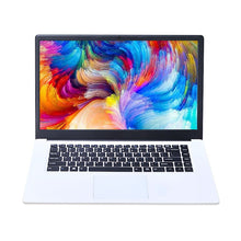 "Load image into Gallery viewer, 15.6"" Ultra-thin Laptop Computer Intel E8000/Z8350 Quad Core 4G+64G SSD 2.4G/5G WiFi Bluetooth HDMI Movie/Sport/Gamin Notebook"