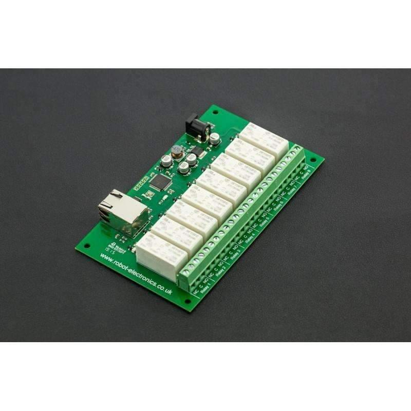 8 Channel Relay Module (RJ45-RLY16, Up to 16Amp) - BESOMI ELECTRONICS