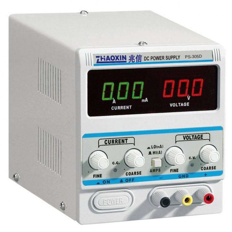 PS-305D : LINEAR DC POWER SUPPLY (0-30V, 0-5A, 1MA DISPLAY)