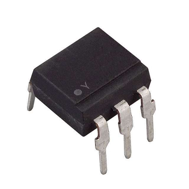 4N25 Optoisolator Transistor with Base Output 2500Vrms 1 Channel 6-DIP