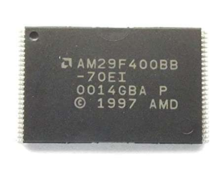 AM29F400BB NOR Flash Parallel 5V 4Mbit 512K/256K x 8bit/16bit 70ns 48-Pin TSOP
