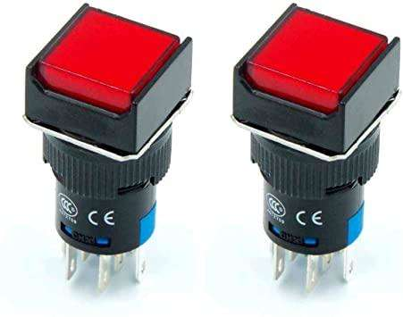 AP16 RESET RED SQUAREON/OFF PUSH BUTTON