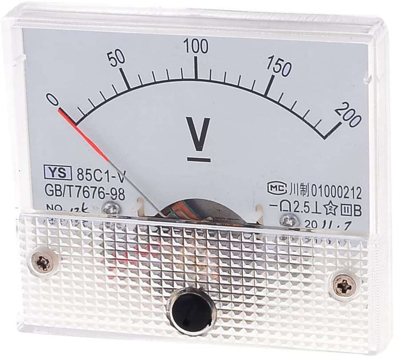 85C1-V / 200V : 85C1-V Rectangle Dial Panel Mount Voltmeter Gauge DC 0-200V - BESOMI ELECTRONICS