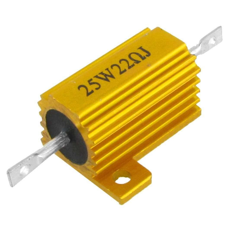 25W 22 Ohm Chassis Mounted Aluminum Clad Wirewound Resistor