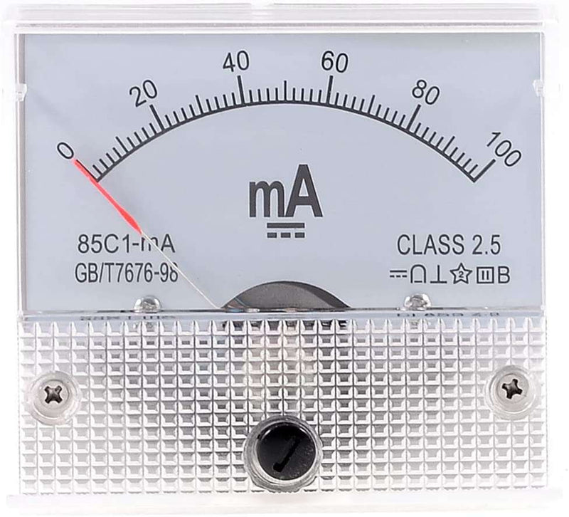 85C1-A / 100MA : Class 2.5 Accuracy DC 0-100mA Analog Current Meter Ammeter 85C1-mA - BESOMI ELECTRONICS