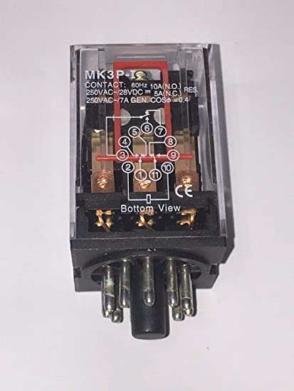 MK3P-I 24VDC General Purpose Relay 3PDT (3 Form C) 24VDC Coil Socketable