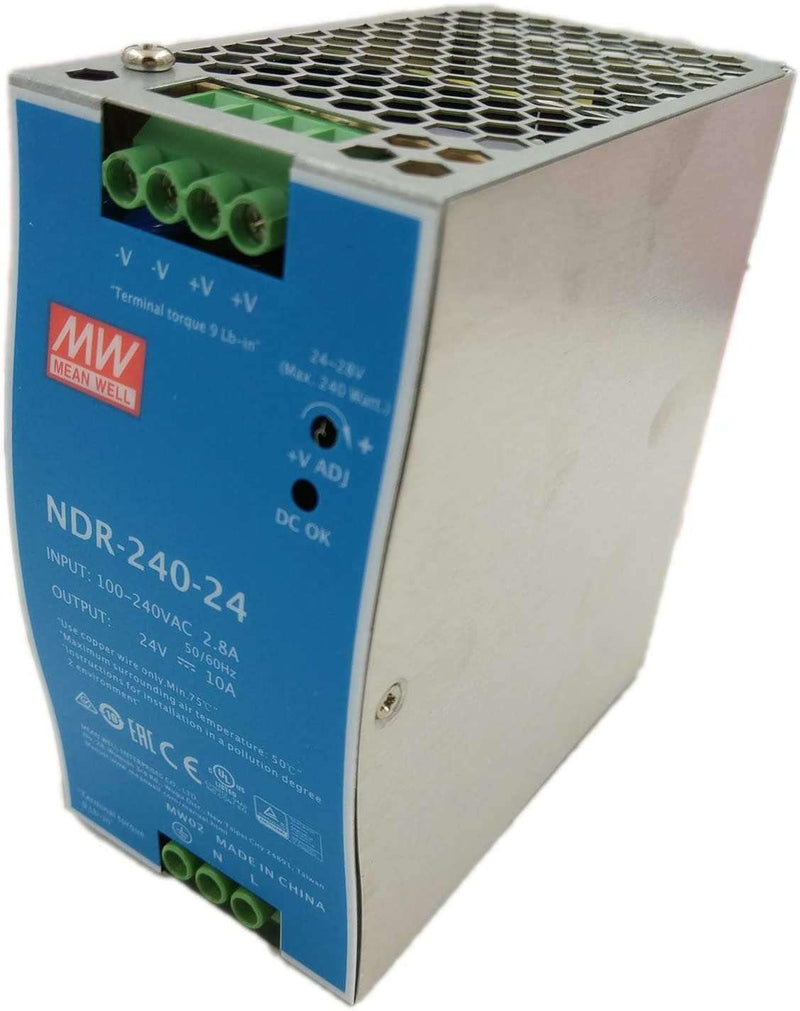 (NDR-240-24) 24V 10A DIN Rail Power Supplies 240W 24V 10A Industrial Din Rail - BESOMI ELECTRONICS