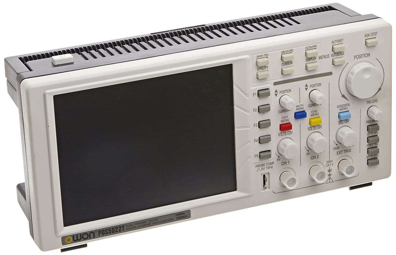 PDS5022T Portable Digital Storage Oscilloscope and Digital Multimeter, 2 Channels, 25MHz, 100MS/s Sample Rate