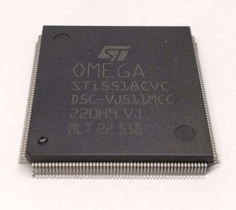 STI15518BQC - Single Chip Set Top Box Decoder Omega IC with MP3 and Hard Disk Drive Support VCC 5 V