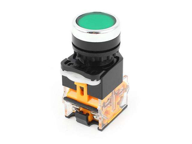 LA38 ON-OFF GREEN 220V AC WITH LED 22MM Push Button Switch