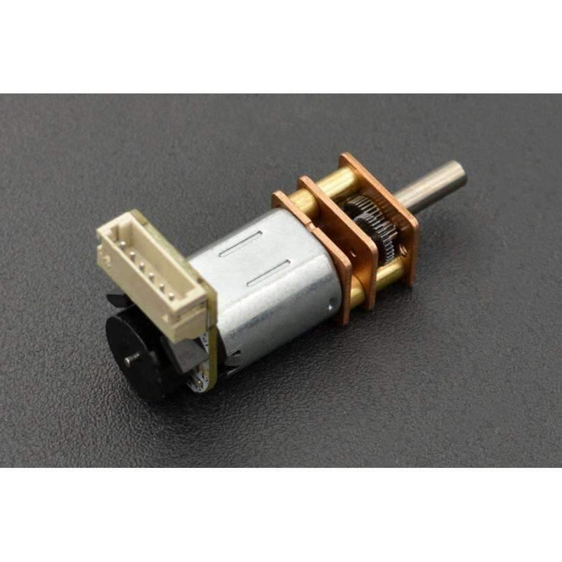 Micro Metal Geared motor w/Encoder - 6V 75RPM 210:1 - BESOMI ELECTRONICS