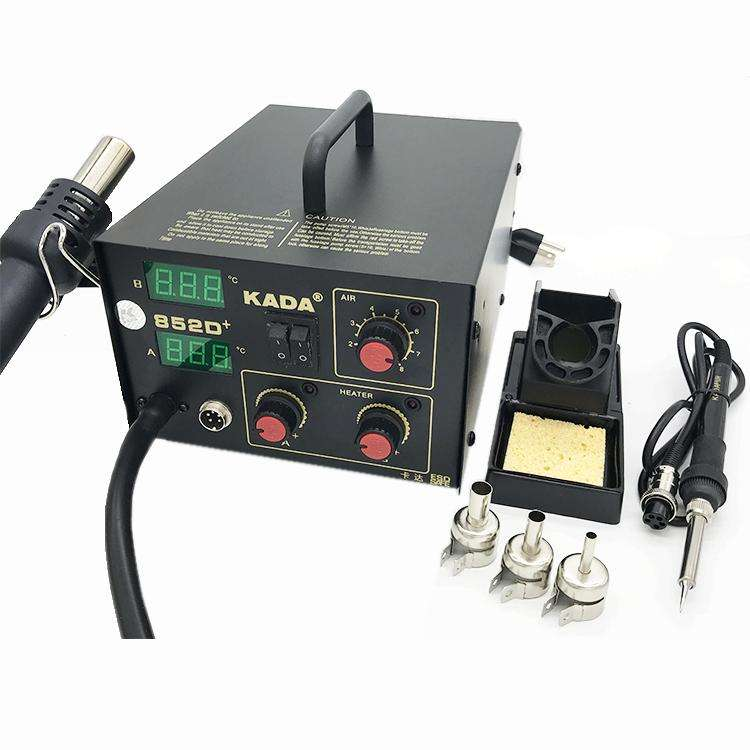 KADA 852D+ soldering desoldering station brushless fan hot air gun smd rework soldering station - BESOMI ELECTRONICS