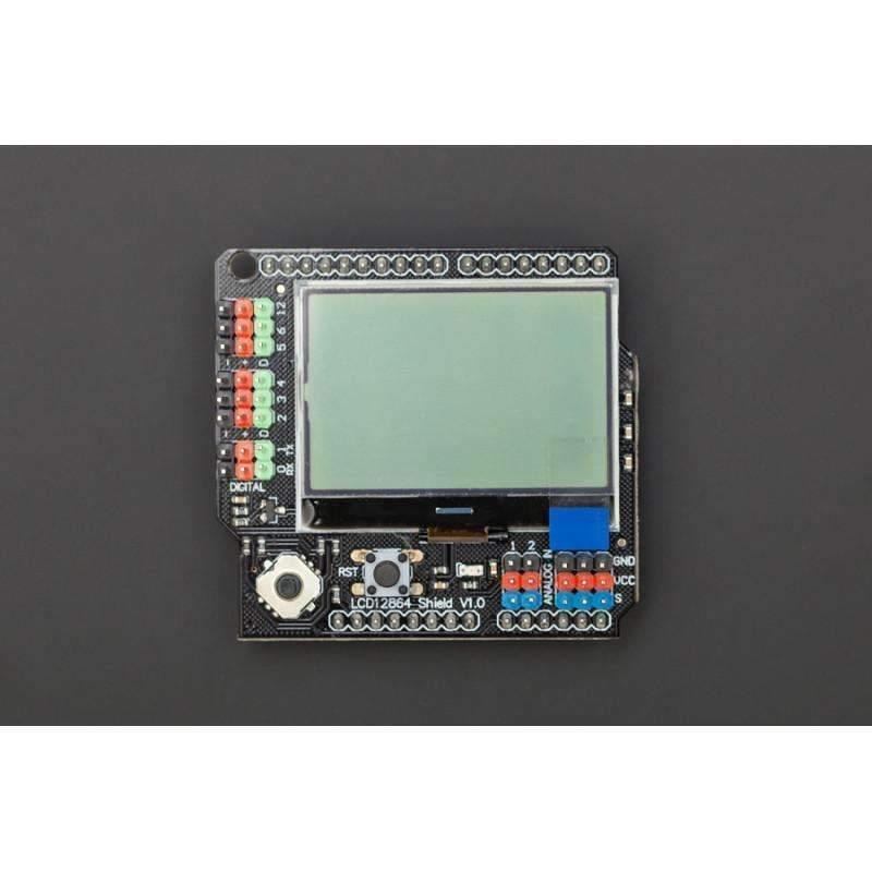 Gravity: LCD12864 Shield for Arduino - BESOMI ELECTRONICS