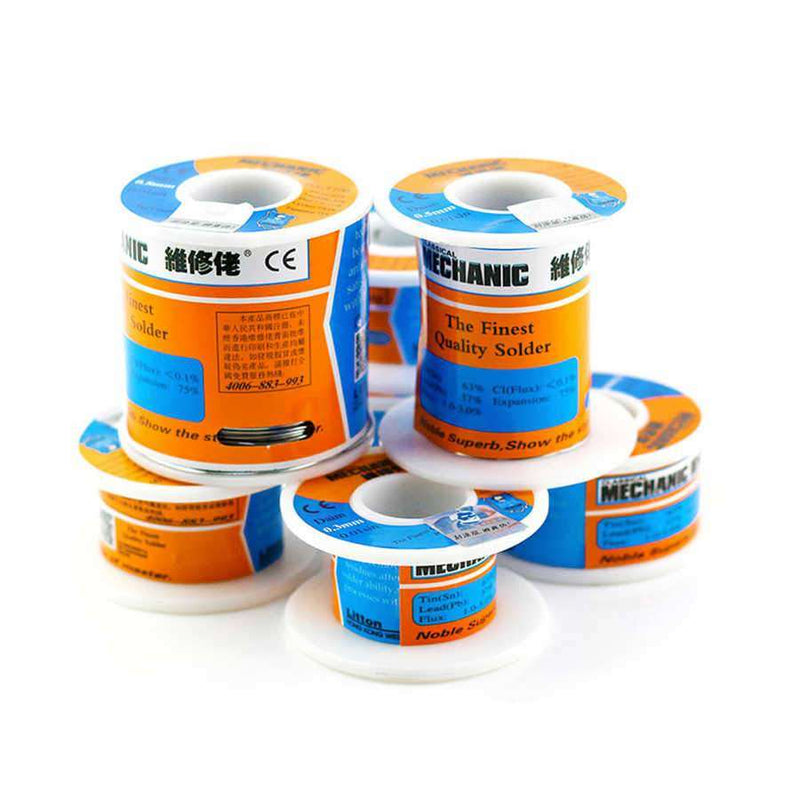 HX-T100 1MM 100G : MECHANIC 100g Solder Silk low Temperature Rosin Flux Low Melting Point Solder Wire Soldering Tin BGA Welding - BESOMI ELECTRONICS