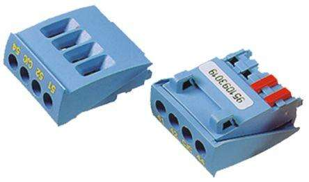 TERMINAL CONNECTOR (BLUE) - 4 WAY / POLE
